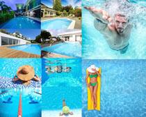 游泳人物拍摄高清图片