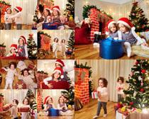 圣诞节小女孩摄影高清图片