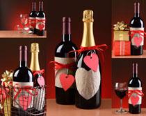 红酒与礼物摄影高清图片