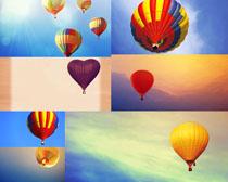 天空气球摄影高清图片