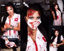 血衅护士女人摄影高清图片