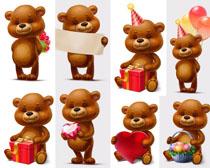 生日礼物小熊摄影高清图片