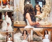 欧美婚纱女子拍摄高清图片