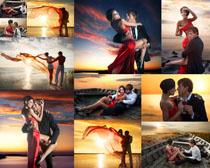 海边浪漫情侣摄影高清图片