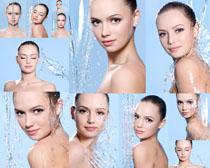 水与肌肤女子摄影高清图片