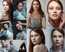 素妆欧美女子摄影高清图片