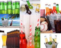 酒瓶与冰块摄影高清图片