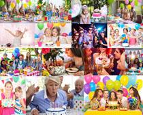 过生日的人们摄影高清图片