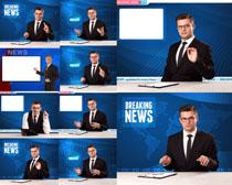 新闻讲解员摄影高清图片