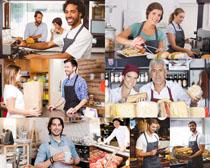 制作面包的人物摄影高清图片