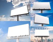 高架广告展示牌摄影高清图片