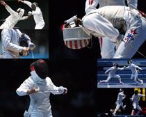 击剑运动员摄影高清图片