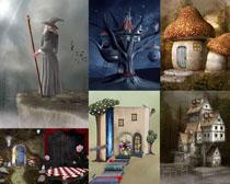 卡通绘画小屋摄影高清图片