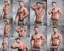欧美肌肉展示男子摄影高清图片