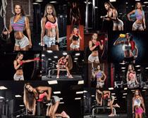 健身房欧美美女摄影高清图片