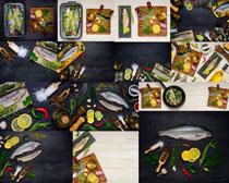 海鲜鱼原料摄影高清图片