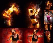 火焰运动女子摄影高清图片