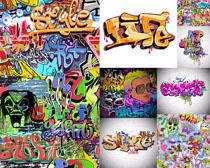 涂鸦字母背景摄影高清图片