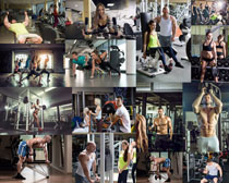 健身房男女拍摄高清图片