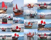 观光船摄影高清图片