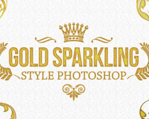 磨砂黄金质感PS字体样式