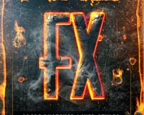 火焰燃烧字体效果PS样式