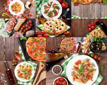 披萨粉条摄影高清图片
