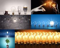 环保与灯泡摄影高清图片