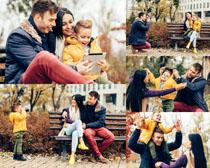 快乐的家庭人物摄影高清图片