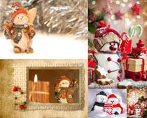 圣诞节装饰雪人摄影高清图片