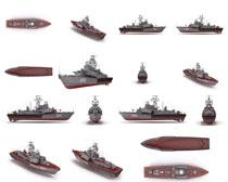 模型军舰摄影高清图片