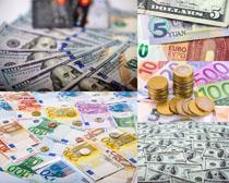 纸币硬币金融摄影高清图片