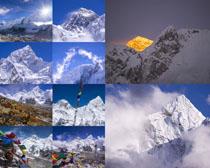 山峰雪景摄影高清图片