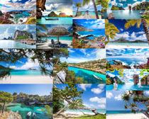 蓝天大海风景摄影高清图片