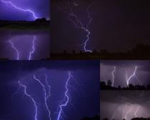 黑夜闪电摄影高清图片