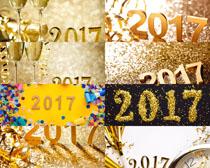 金色2017节日素材摄影高清图片
