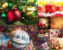 圣诞节礼物球摄影高清图片