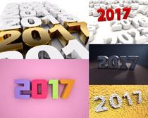 2017立体字摄影高清图片