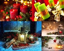 圣诞节蜡烛摄影高清图片