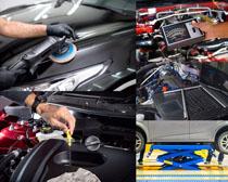 汽车护理保养摄影高清图片