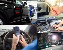 汽车检查维护摄影高清图片