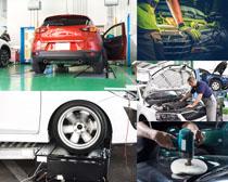 汽车动平衡护理摄影高清图片
