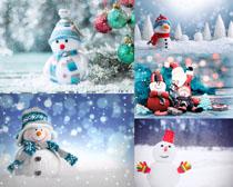 卡通装饰雪人摄影高清图片