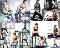 瘦身欧美健身女子摄影高清图片