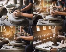 制作艺术陶瓷摄影高清图片