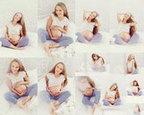 欧美孕妇女子拍摄高清图片