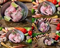 鸡腿蔬菜原创摄影高清图片