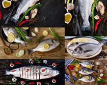 海鱼柠檬原料摄影高清图片