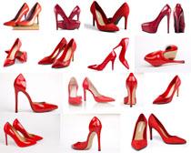 女性红色高跟鞋摄影高清图片