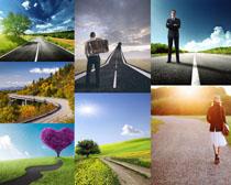 美丽的道路风景拍摄高清图片